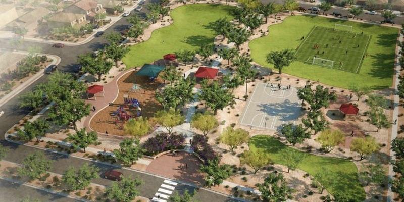 artist rendering of new master planned community