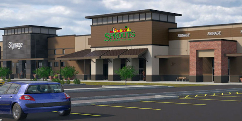 Rendering of Sprouts at Sonoran Creek shopping center