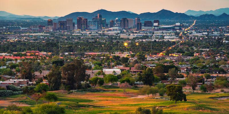 landscape view of downtown Phoenix